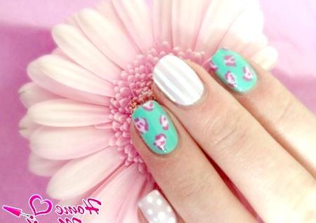 Фото - ніжний дизайн нігтів Шілак
