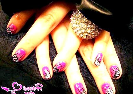 Фото - красиві малюнки на рожевому Шелак
