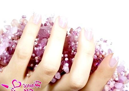 Фото - нарощені нігті френч