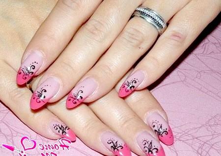 Фото - елегантний френч на нарощених нігтях