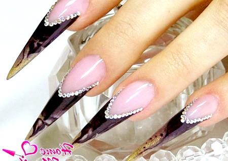 Фото - розкішні нарощені нігті френч