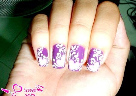 Фото - романтичний дизайн нігтів акриловими фарбами