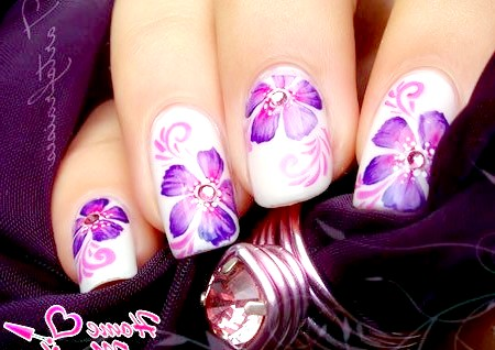 Фото - чудовий квітковий малюнок акриловими фарбами