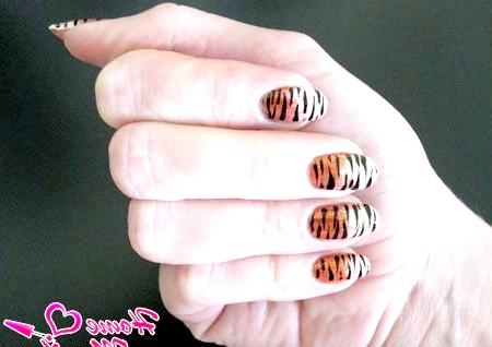 Фото - тигровий манікюр з градієнтом
