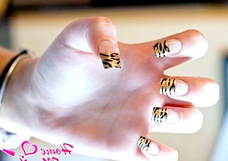 Фото - стильний тигровий френч
