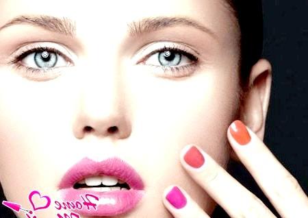 Фото - гелеве покриття нігтів різними кольорами