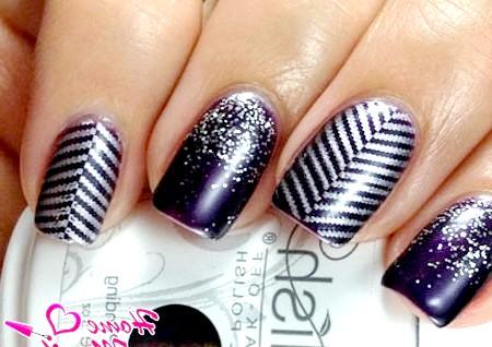 Фото - гелевий дизайн нігтів з глітером