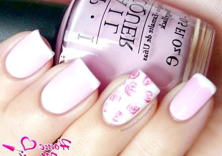 Фото - ніжний рожевий френч з нестандартною посмішкою