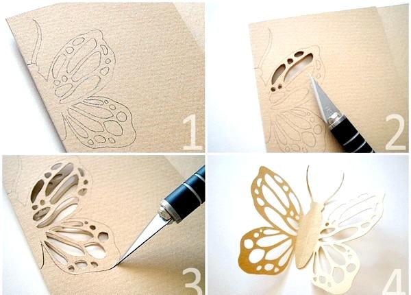 Фото - Ніжні і оригінальні - ажурні метелики своїми руками. Фото з сайту demiart.ru