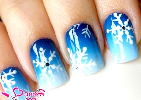 Фото - зимовий дизайн нігтів