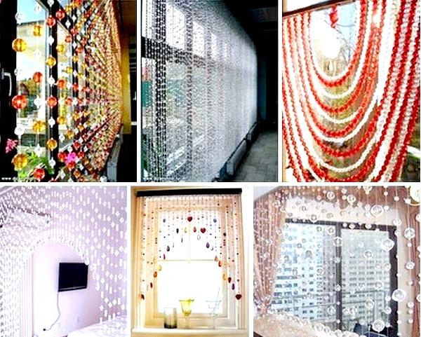 Фото - Ідеї для виконання штор з намистин. & Lt; / p & gt; & lt; p & gt; Фото з сайту vk.com