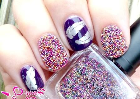 Фото - Стильний дизайн нігтів з ікринками