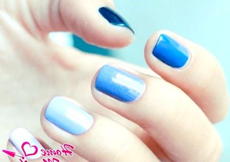 Фото - гарні нігті в стилі омбре