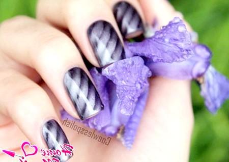 Фото - модний дизайн нігтів магнітним лаком