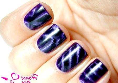 Фото - різні візерунки на нігтях магнітним лаком