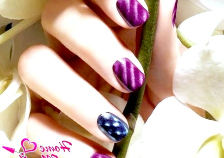 Фото - стильний магнітний дизайн нігтів