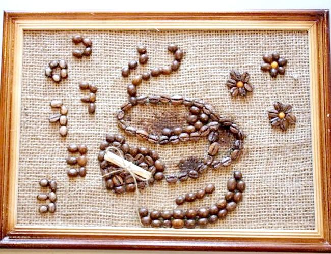 Фото - панно з кавових зерен