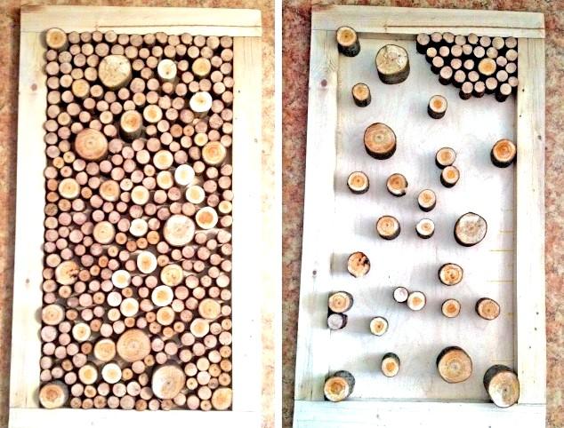 Фото - Панно з дерев'яних спилов