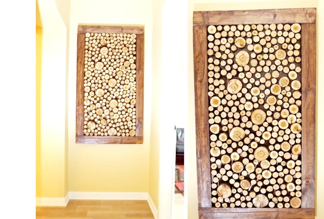 Фото - Панно з дерев'яних спилов в домашніх умовах