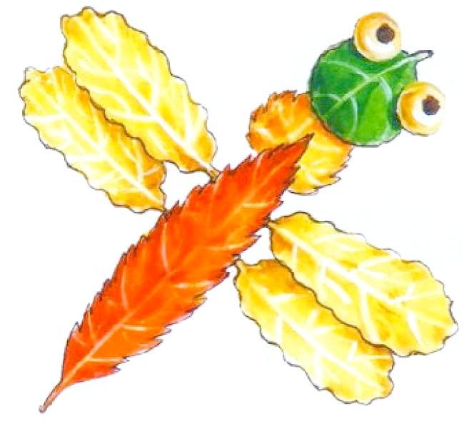 Фото - бабка з осіннього листя