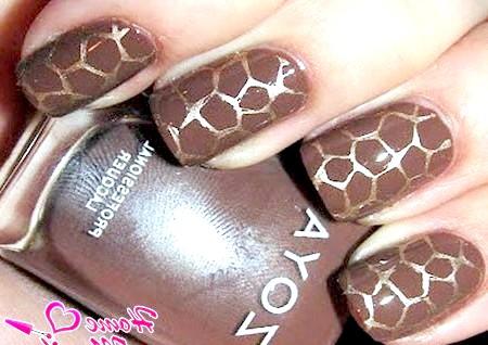 Фото - ефект великого мармуру на нігтях